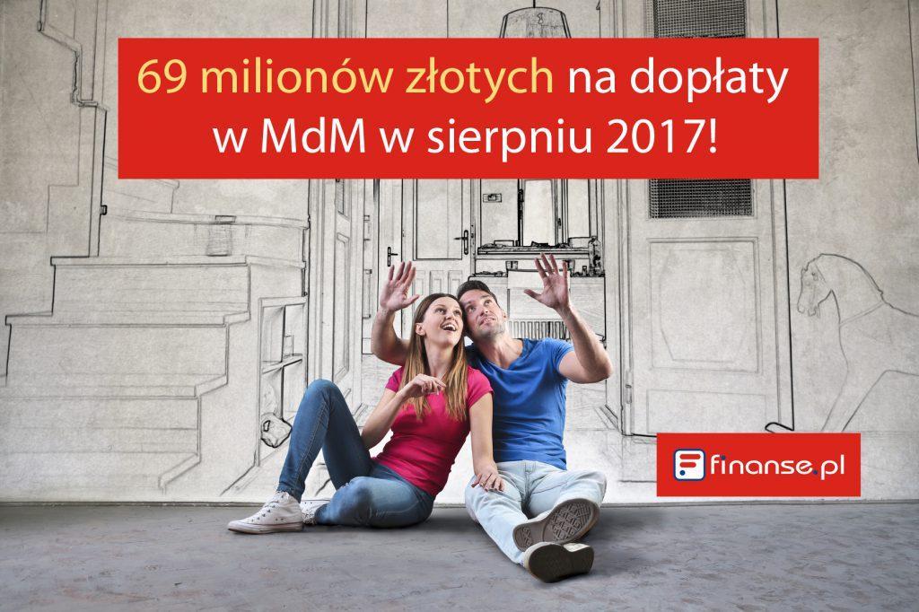 69 milionów złotych na dopłaty w MdM w sierpniu 2017!